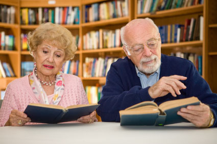 Senior Couple at the Library